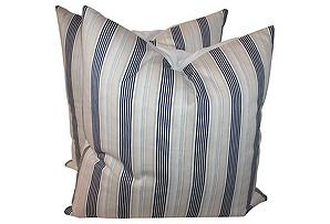 19th-C. Striped Pillows*