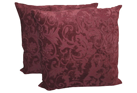 Velvet Pillows, Pair