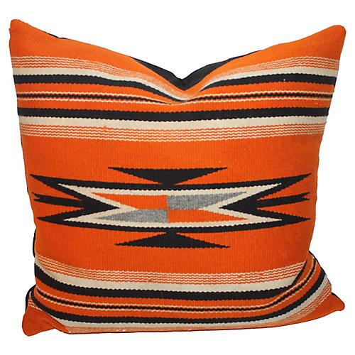 Native Design Orange Pillow