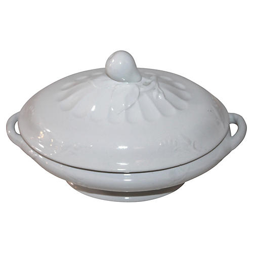 Ironstone Serving Bowl w/ Lid