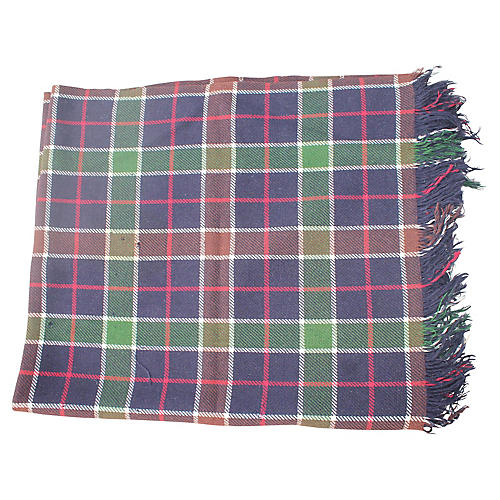 Blue & Green Plaid Blanket