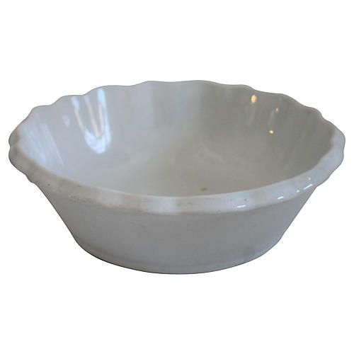 19th-C. Ironstone Serving Bowl