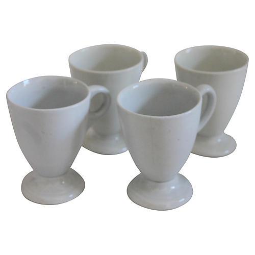 19th-C. Ironstone Dessert Cups, S/4