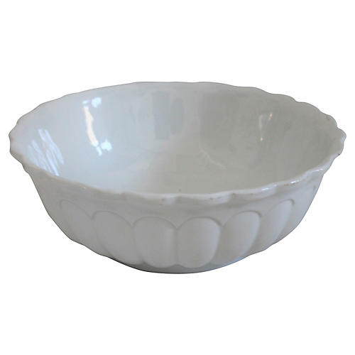 19th-C. Ironstone Serving Bowl