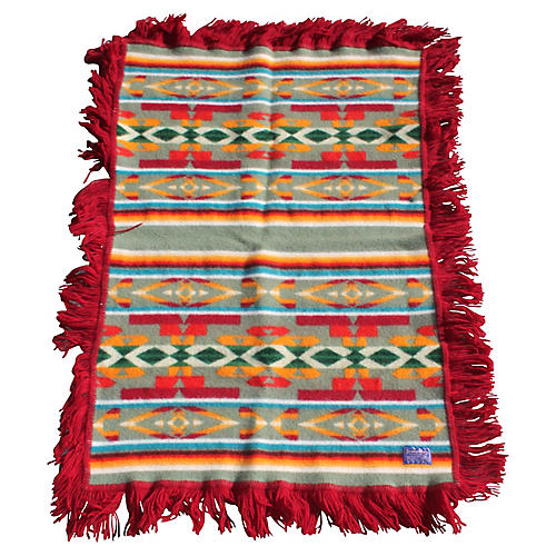Pendleton Camp Blanket w/ Red Fringe