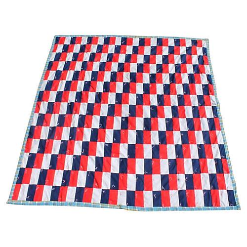 Building Block Pattern Quilt