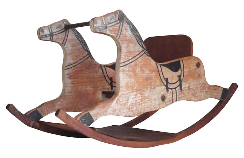 19th Original Childs Rocking Horse