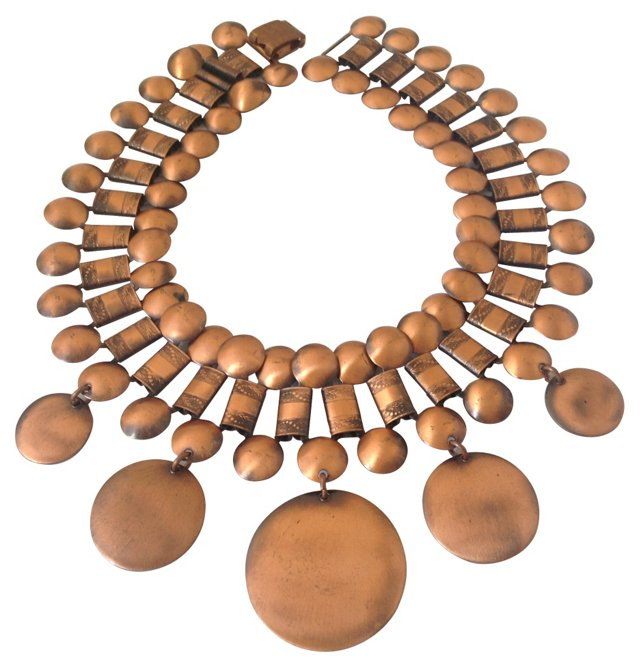 Copper Sunburst Collar