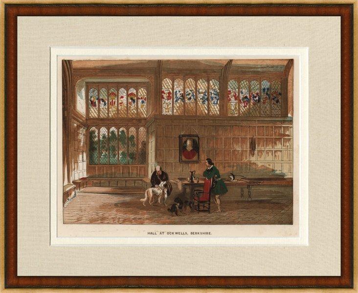 Hall at Ockwells, Berkshire, 1870