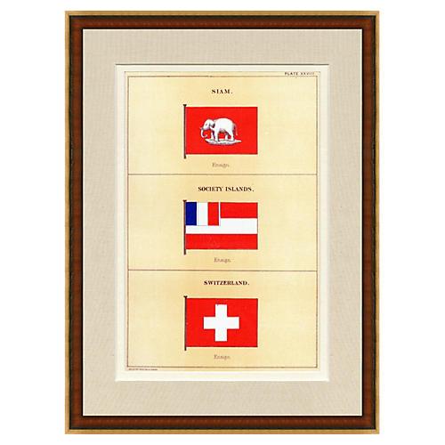 Switzerland Naval Flag, 1882