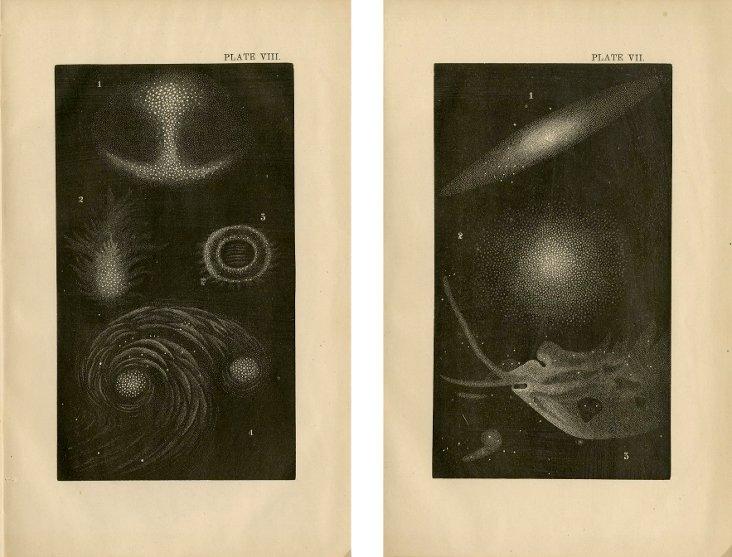 Nebula Prints, 1868, Pair