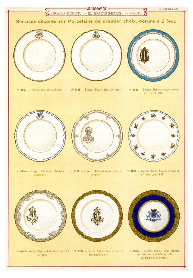 Dinnerware  Print, 1863