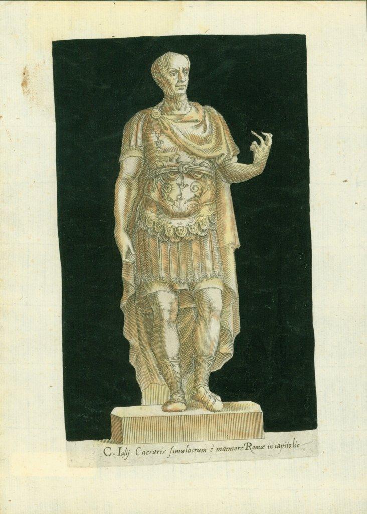 Roman Statue Engraving, 1595