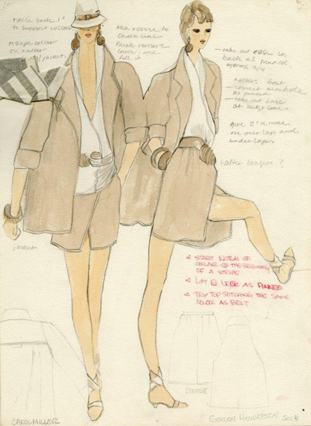 1980s Gordon  Henderson  Fashion Sketch
