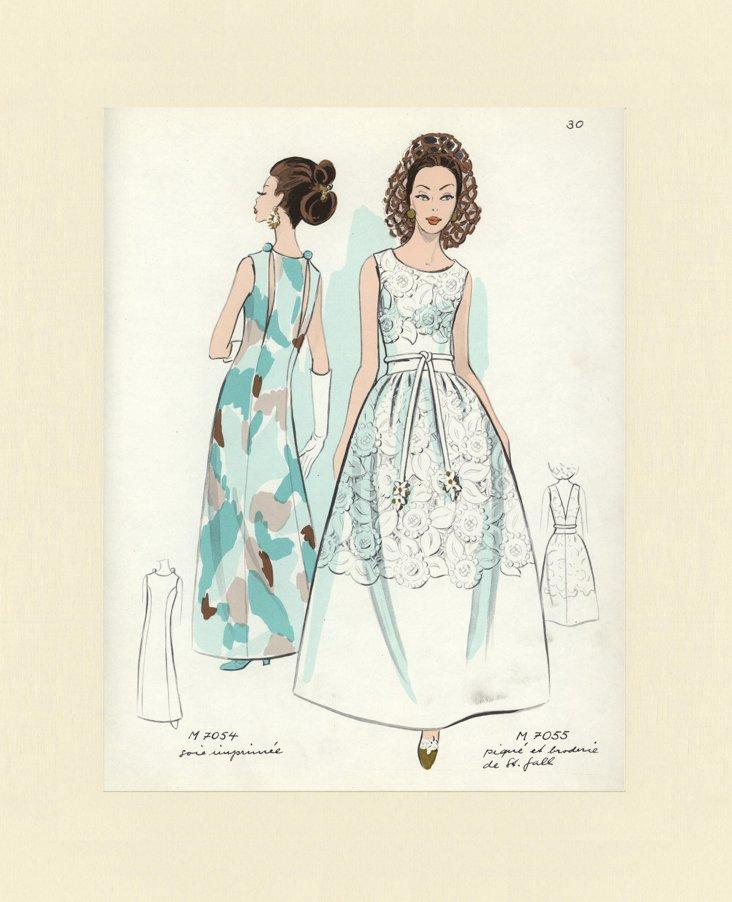 French     Fashion    Print, 1969