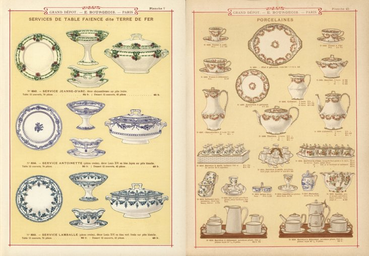 Tableware  Prints, C. 1890, Pair