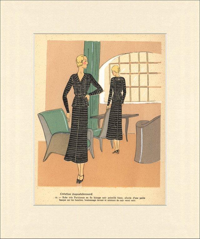 Très Parisien Fashion Print,  1932