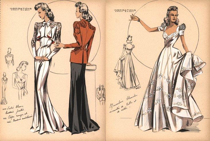 Fashion Prints,  1941, Pair