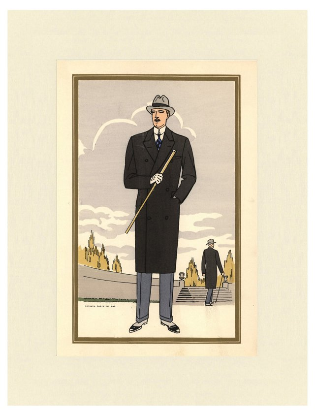 1920s Men's   Fashion Print