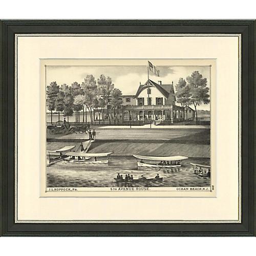 5th Avenue House, Ocean Beach, NJ, 1876