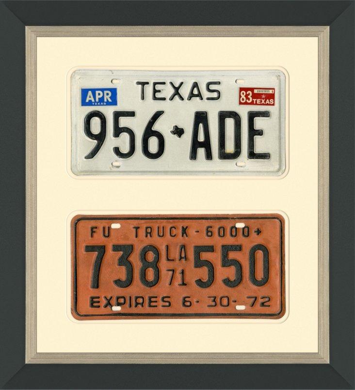 TX & LA License Plates