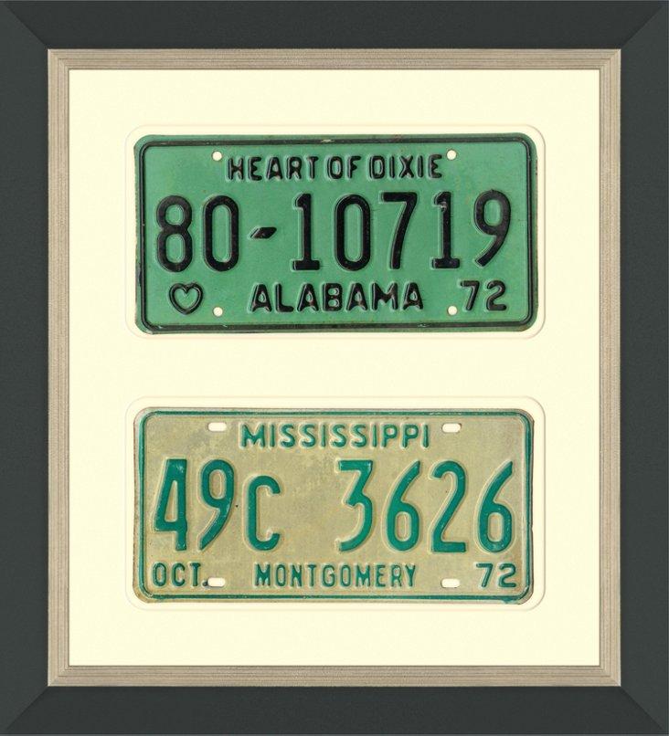 AL & MS License Plates