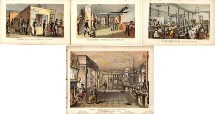 NYC Soldier's Depot Prints, 1864, S/4