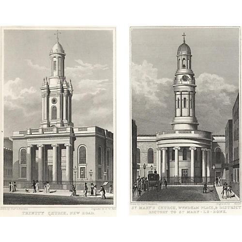 Views of London Prints II, Pair, 1828