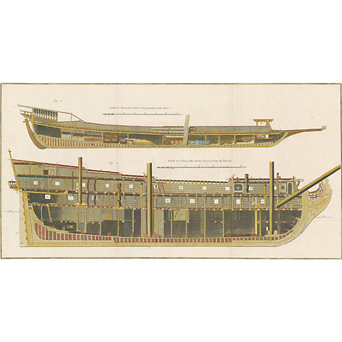 Cross-Section of a Ship, 1770