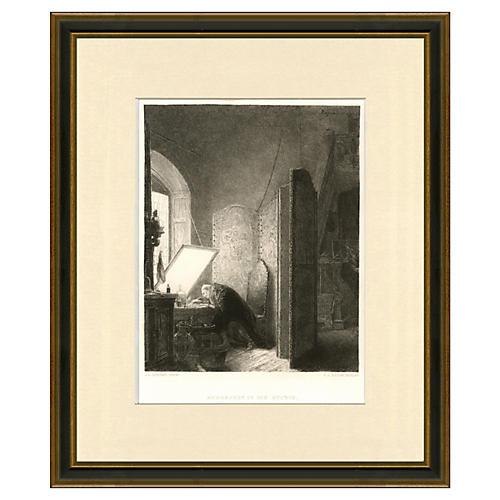 Rembrandt in his Studio, 1879