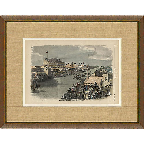 Harper's Weekly Horse Race 1860