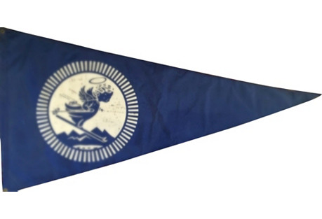 1960s Lake Tahoe Vinyl Ski Flag