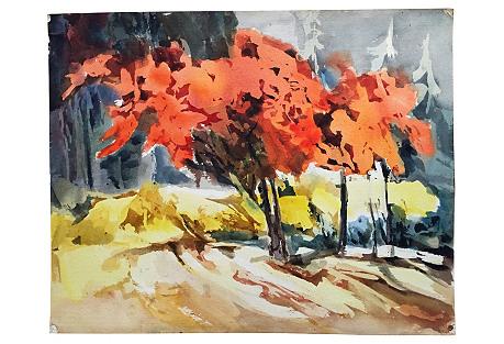 1960s Fall Landscape Thelma Moody
