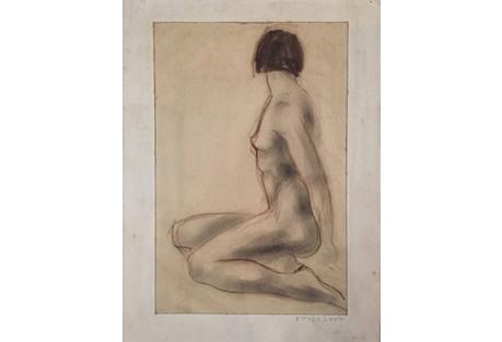 Charcoal Estelle Levin Siegelaub, 1937