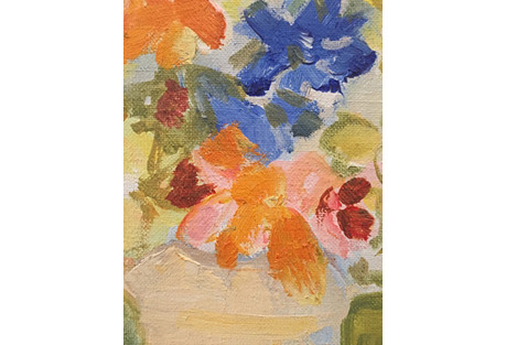 1960s Floral Painting by Anita Simpson