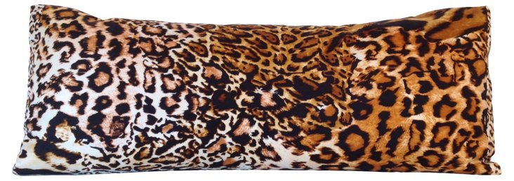 Animal  Print Silk Lumbar Pillow