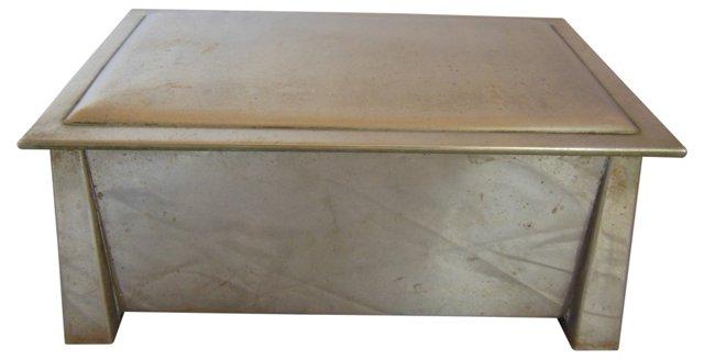 Arts & Crafts Nickel Silver Dresser Box