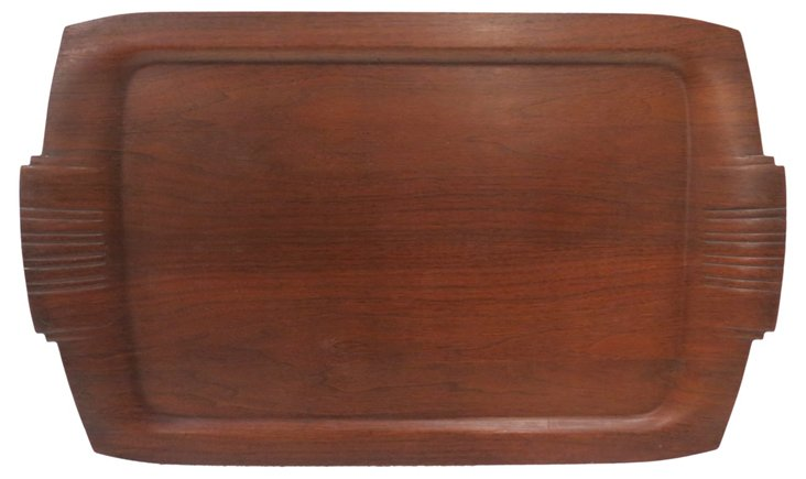 Midcentury Wooden Tray