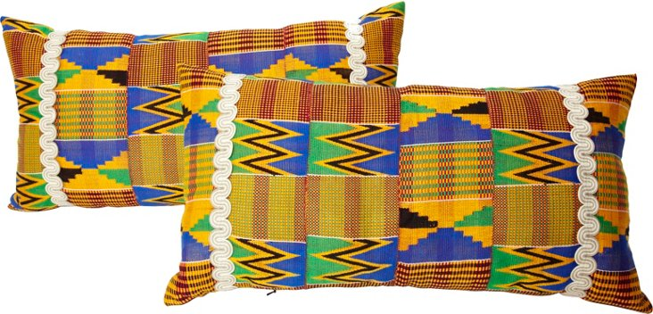 Weaving Pillows, Pair
