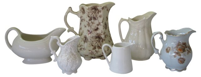 Assorted Pitchers, Set of 6