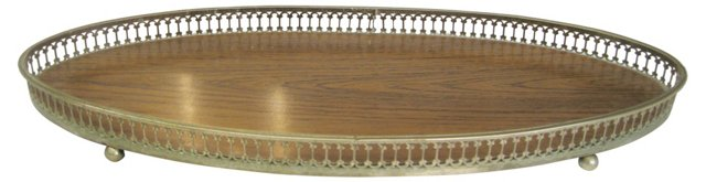 Elongated Oval Gallery Tray