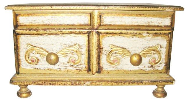 Footed Florentine Music Box