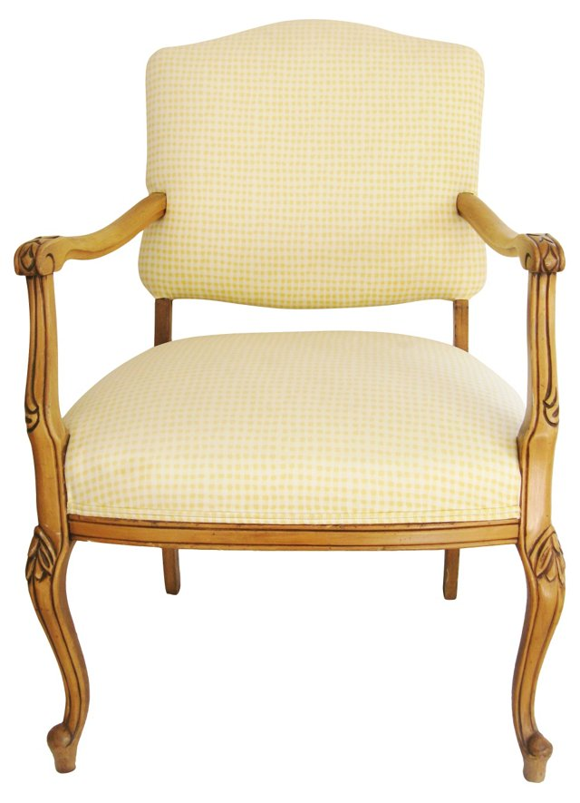Pale  Yellow Fauteuil