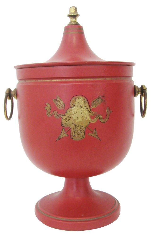 Red Pedestal Ice Bucket