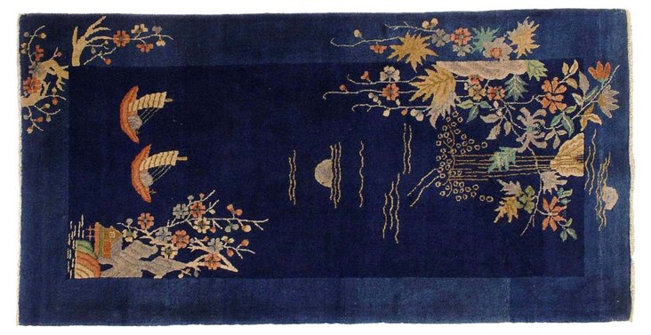 "Chinese Art Deco Rug, 3'0"" x 6'0"""