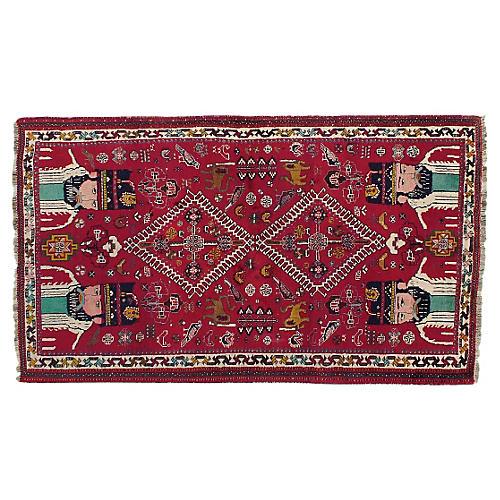 "Persian Shiraz Rug, 4'9"" x 8'"