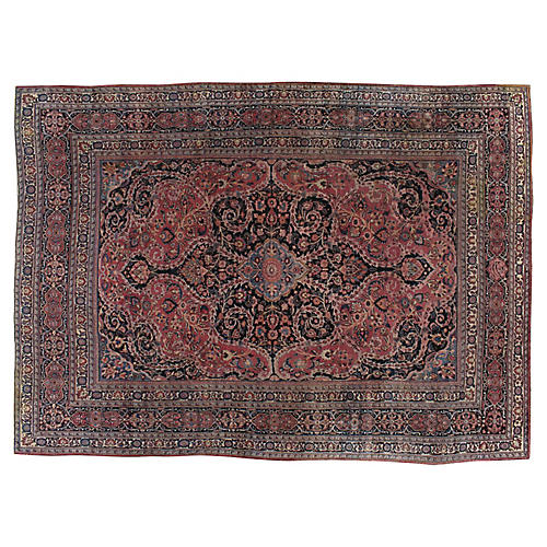 "Persian Mashad Carpet, 10'1"" x 13'10"""
