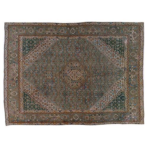 """Persian Tabriz Rug, 8'1"""" x 10'11"""""""