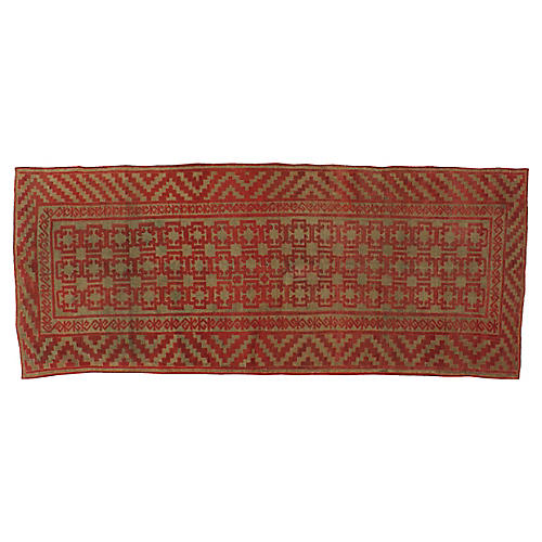"Antique Kyrgyz Runner, 4'7"" x 11'5"""