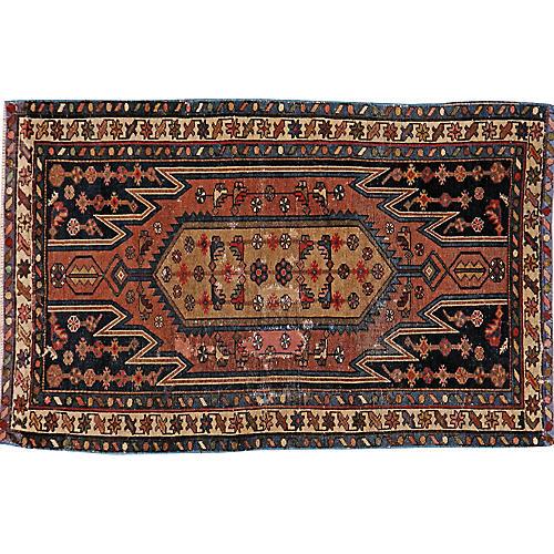 "Distressed Persian Rug, 2'3"" x 4'"